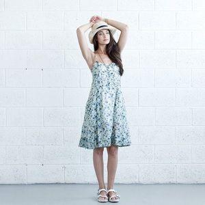 Dresses - Pleated Sundress - Floral.